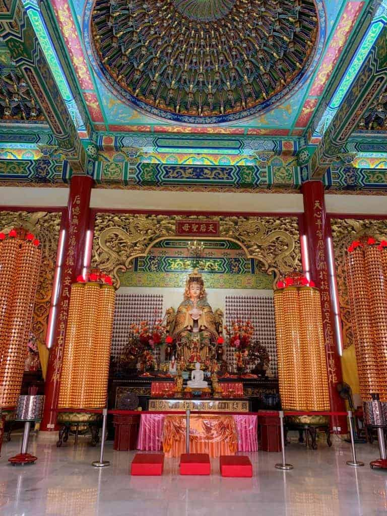 Inside Chinese temple