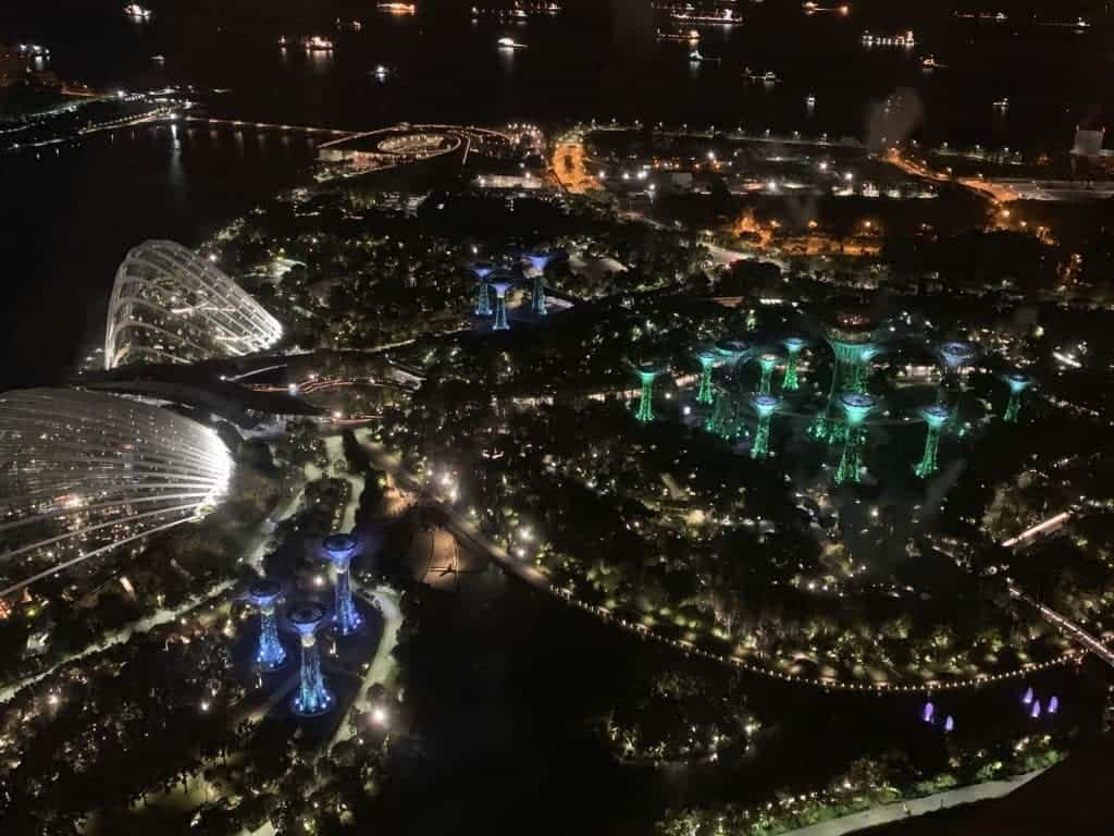 One of the best things to do in Singapore: View of Singapore from Marina Bay Sands Hotel Skypark
